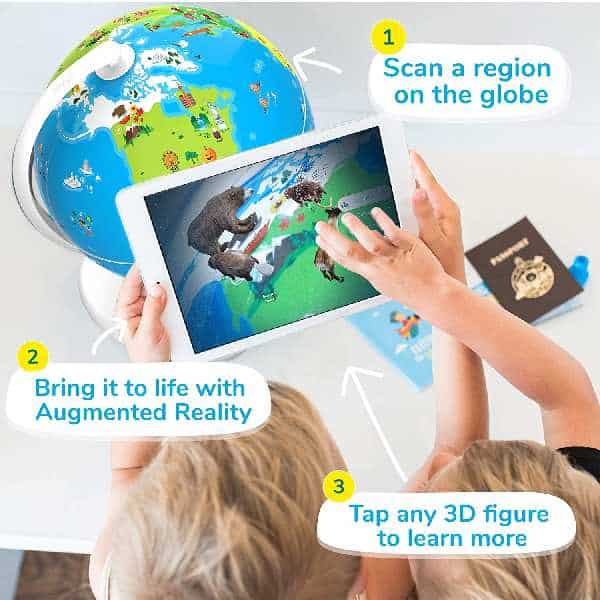 Shifu Orboot - Augmented Reality Interactive Globe For Kids, Stem Toy For Boys & Girls Ages 4+