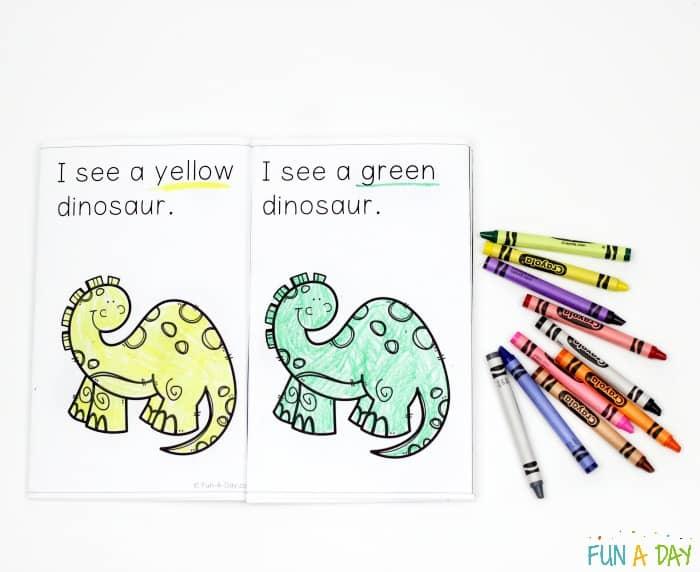 Dinosaur Color Emergent Reader