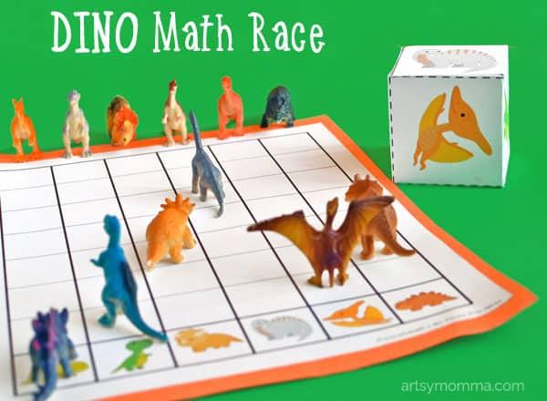 dinosaur math race
