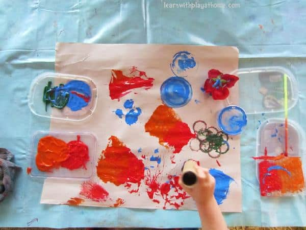 Invitation to Paint with Recycled Materials