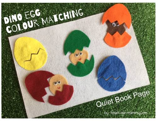 dinosaur color matching activity