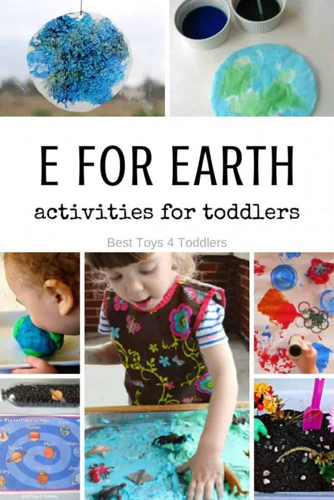 Letter E for Earth - 7 days of playful activities for toddlers - Tot School weekly theme