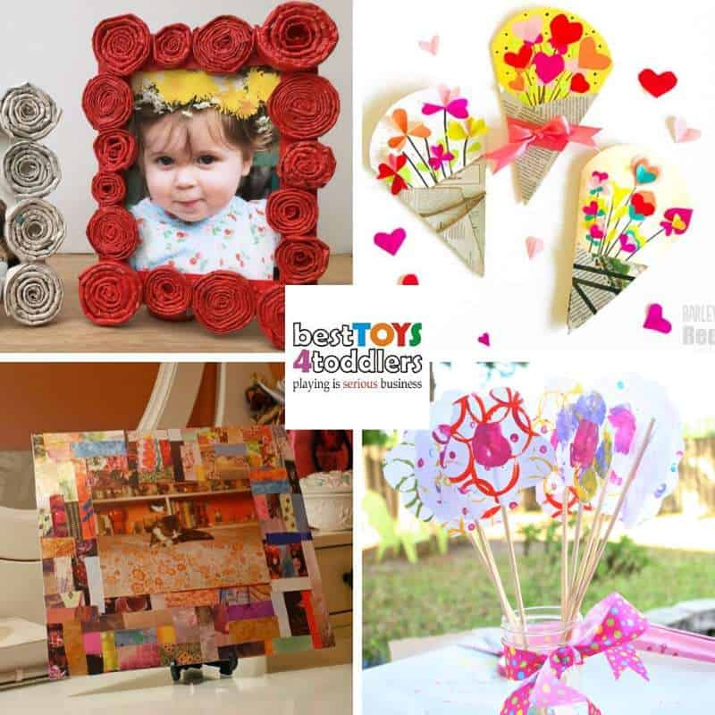 Mother's day crafts for kids to make from recycled magazines