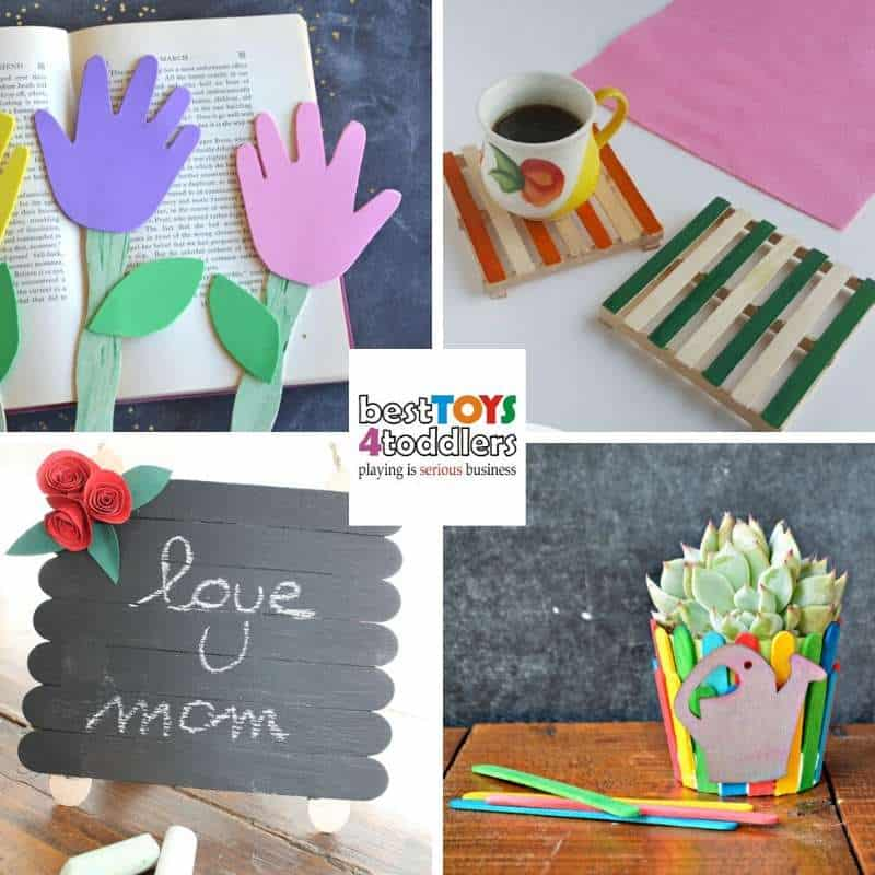 Mother's day recycled crafts kids can make from popsicle sticks