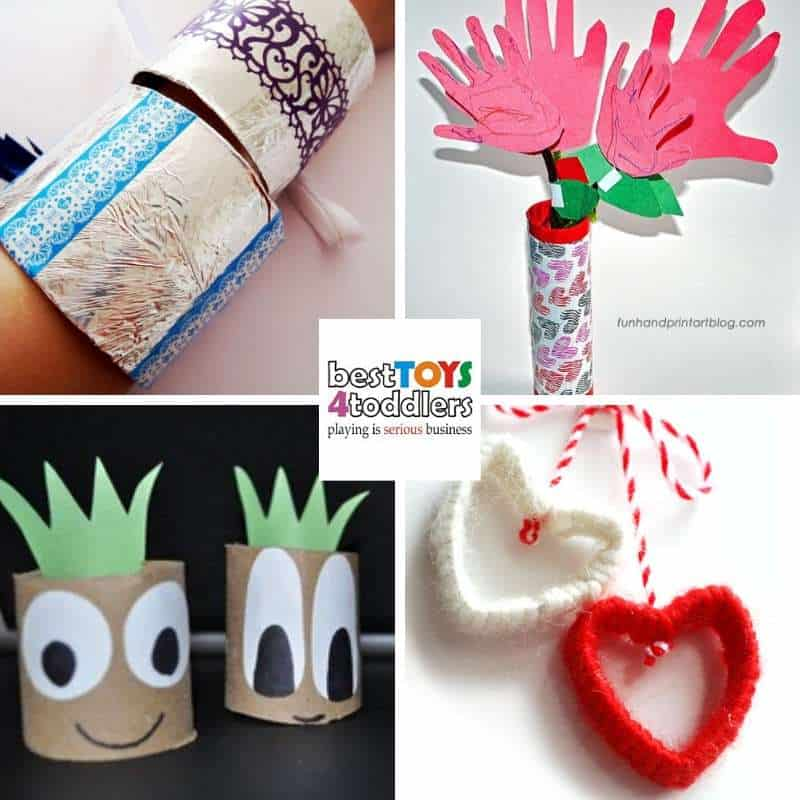 Reuse paper rolls for Mother's day crafts