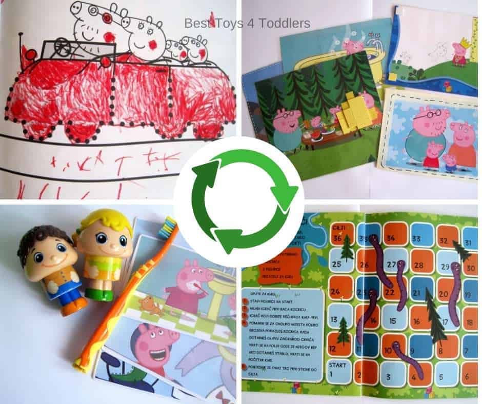 How to recycle scribbled activity books for new toys, activities and games