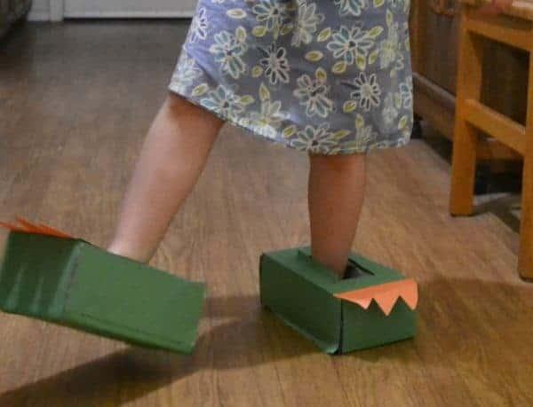 dinosaur feet for pretend play