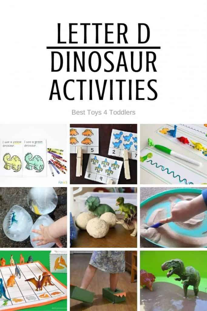 Letter D - dinosaur activities for tot school and preschool