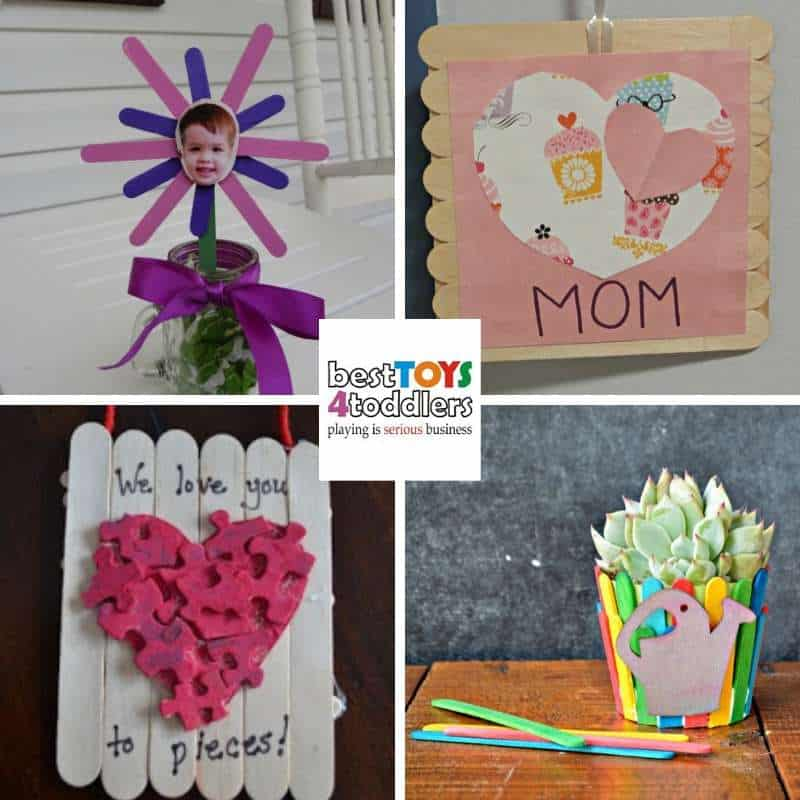 popsicle stick crafts kids can make for Mother's day gifts