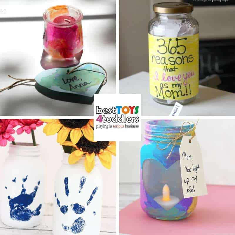 reuse mason jars for Mother's day handmade gifts