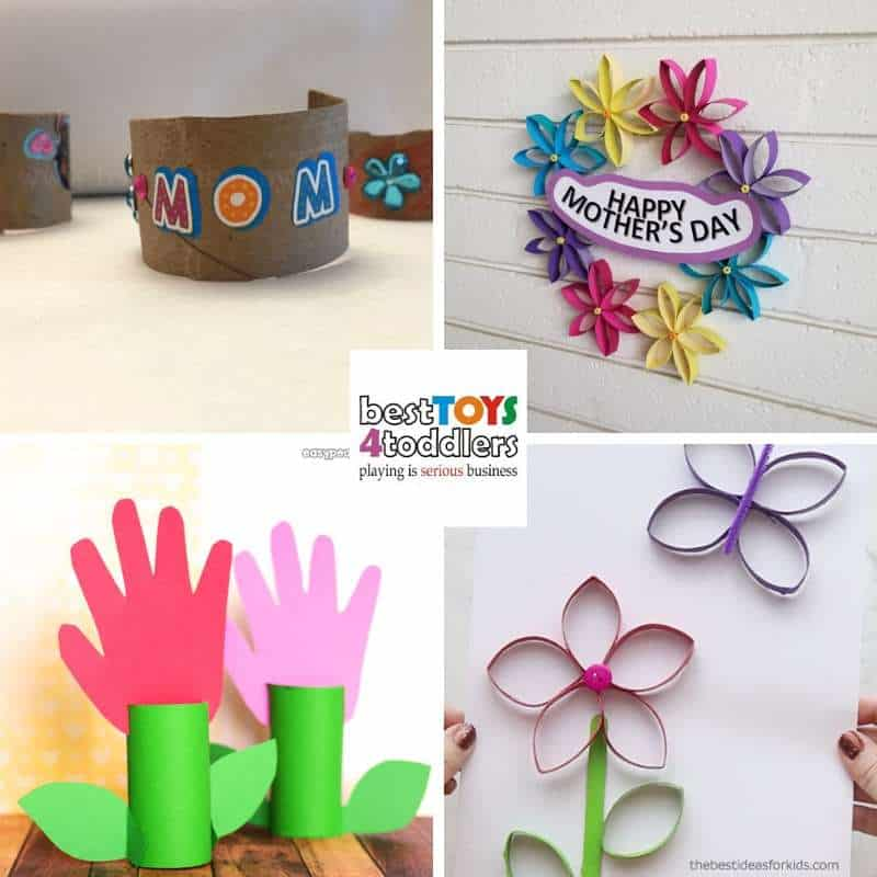 Toilet paper roll Mother's day crafts for kids to make and give