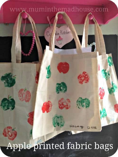 apple print bags