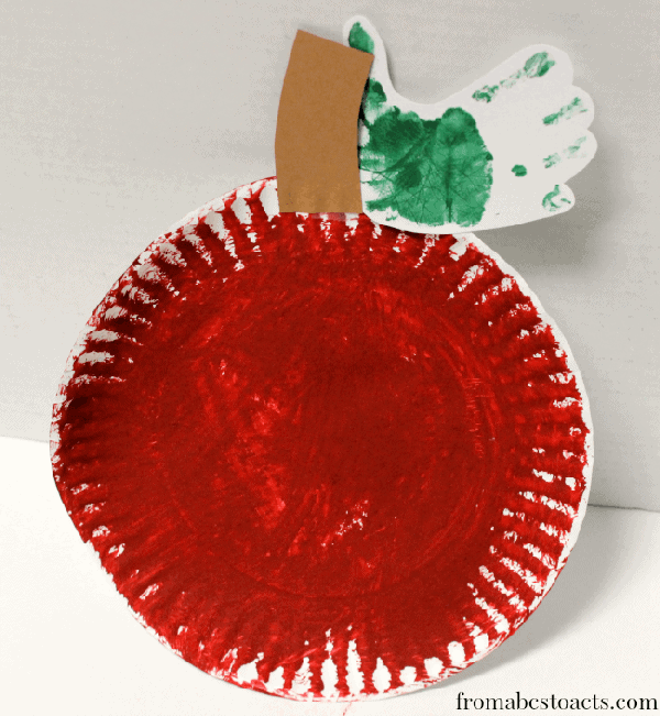 Cinnamon Painted Apple Craft for Preschoolers