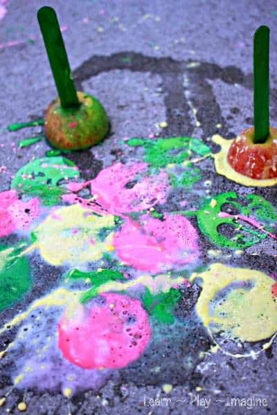 Erupting Apple Sidewalk Chalk Paint Recipe