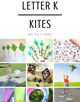 Best Toys 4 Toddlers - Ideas for week of playful learning activities with kites (tot school and preschool)
