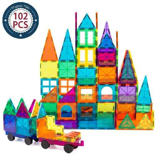 Best STEM Toys for 2 Year Old Boys and Girls - Magnetic 3D Building Tiles