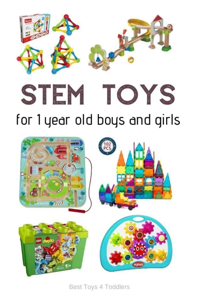 Top 10 STEM Toys For 2 Year Olds is a collection of our favorite toys to introducing new ideas about STEM - science, technology, engeneering and math to 2 year old boys and girls #STEM #STEMtoys #2yearolds