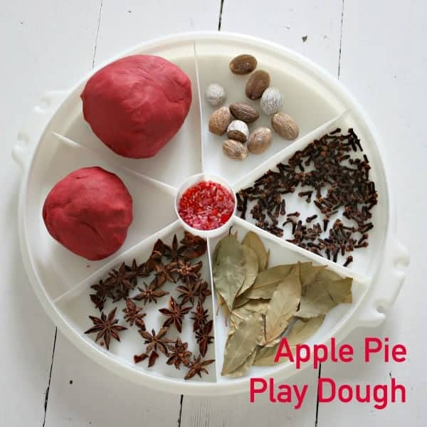 apple pie play dough spice printing