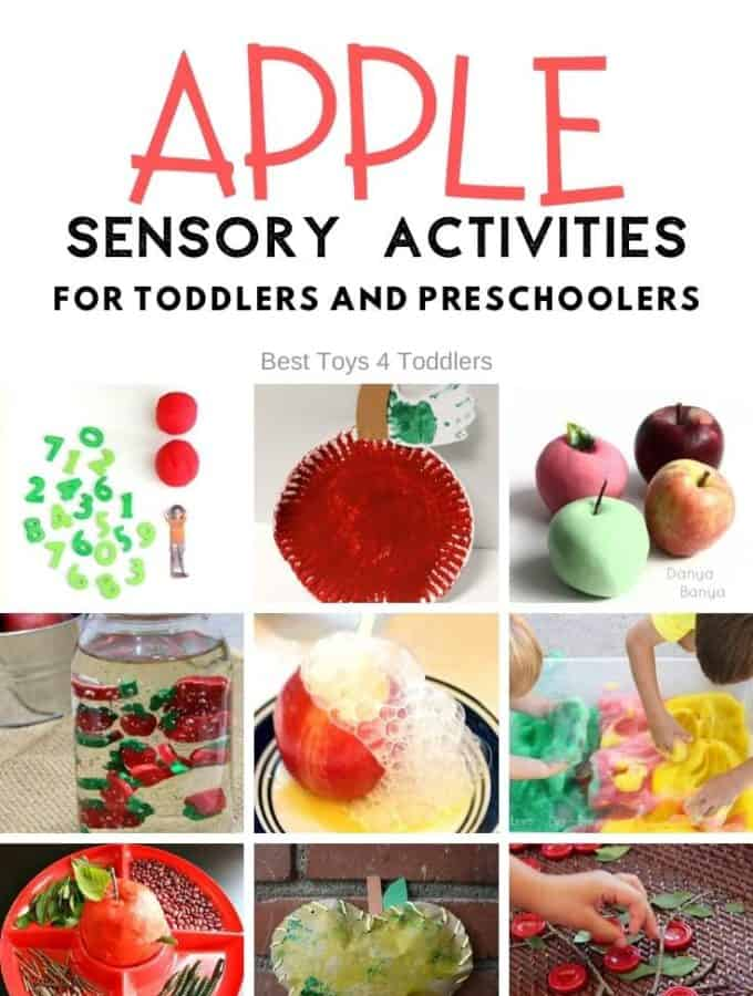 Best Toys 4 Toddlers - 33 Sensory Apple Activities for kids perfect for apple unit or seasonal fall activity