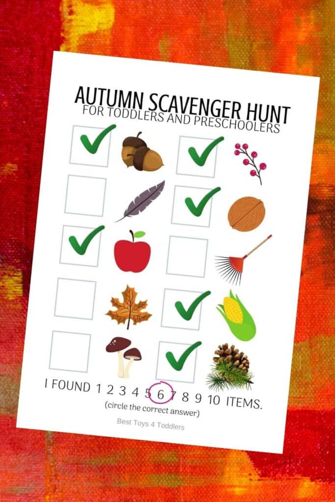 Take a child outside for a walk and let them observe changes in the season as they look for clues from a free printable fall photo scavenger hunt. #freeprintable #scavengerhunt #fallseason #autumn