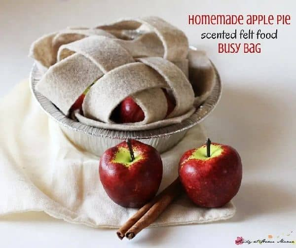 homemade apple pie felt food set