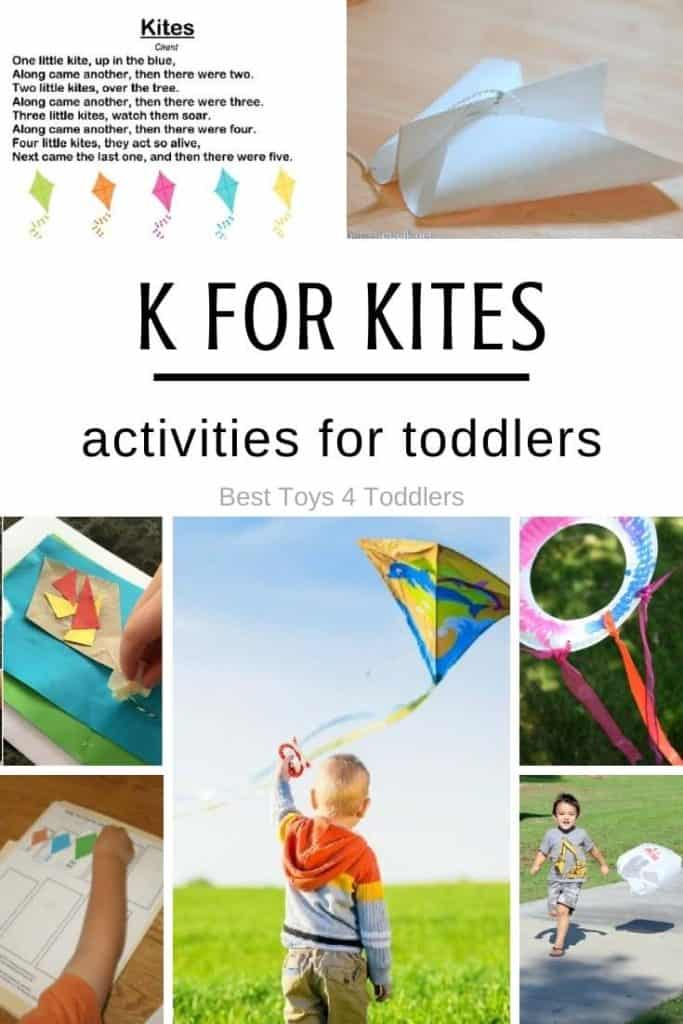 Letter K - kite themed activities for tot school. From simple kite crafts to easy STEM activities for toddlers