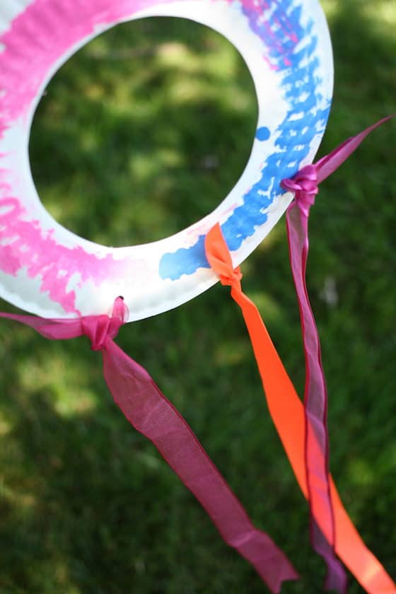 Paper Plate Kites