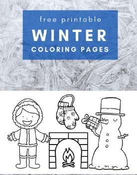 Free winter coloring pages for toddlers and preschoolers #freeprintable #coloringpages #winter