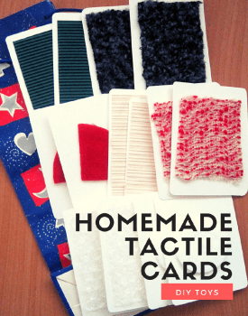 DIY toys - homemade tactile cards from recycled materials |Touch & Match Game with 4 play variations #sensoryplay #tactile #DIYtoys #homemadetoys