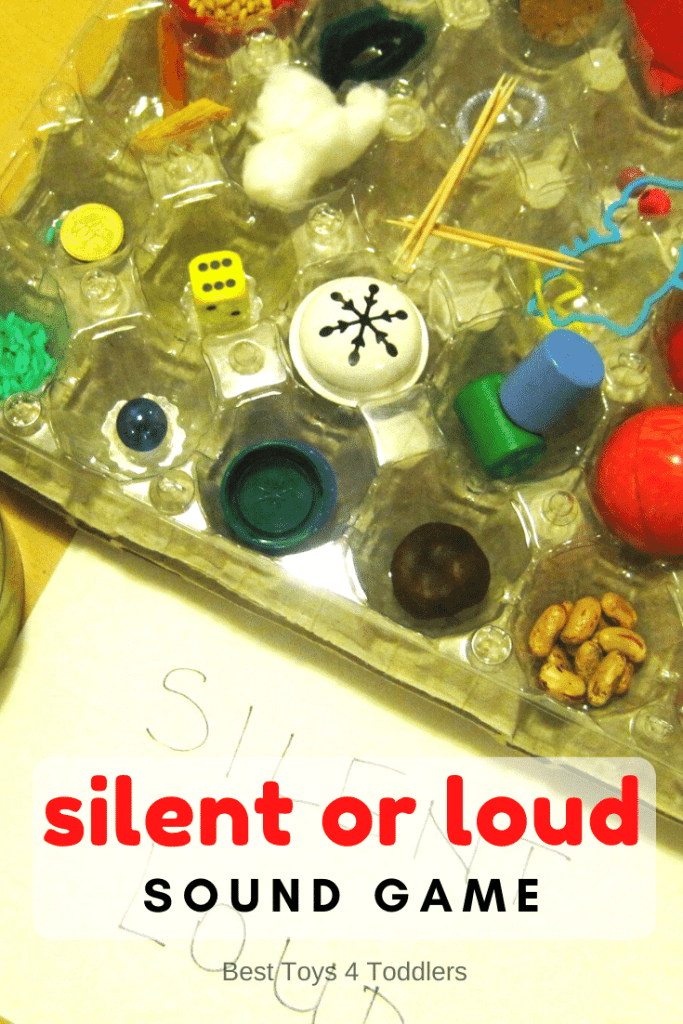 Silent or Loud Sound Game helps child with their sense of hearing but the game also help children to listen more carefully and pay attention.  #sensoryplay #auditorygame #listeninggame #SPD #sensoryprocessing