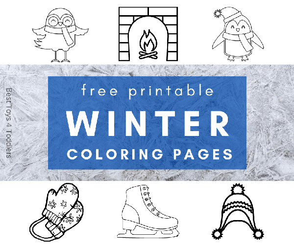 Free Winter Themed Coloring Pages for Kids