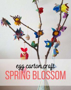 Egg carton spring blossom